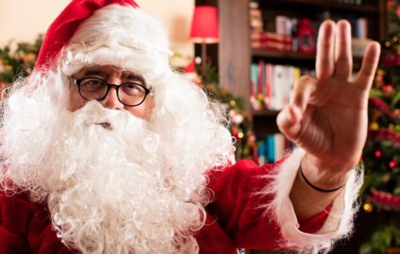 Setki Mikołajów na sycowskim rynku
