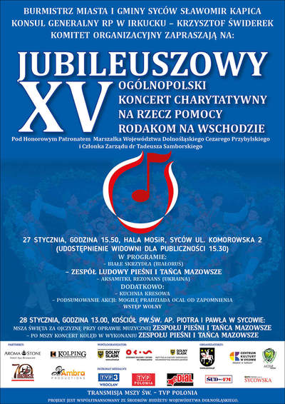 XV Koncert Charytatywny na Rzecz Pomocy Rodakom na Wschodzie