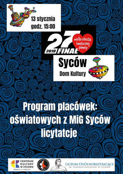 27. Wielka Orkiestra Świątecznej Pomocy w Sycowie