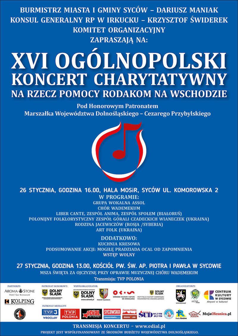 XVI Ogólnopolski Koncert Charytatywny na rzecz Pomocy Rodakom na Wschodzie