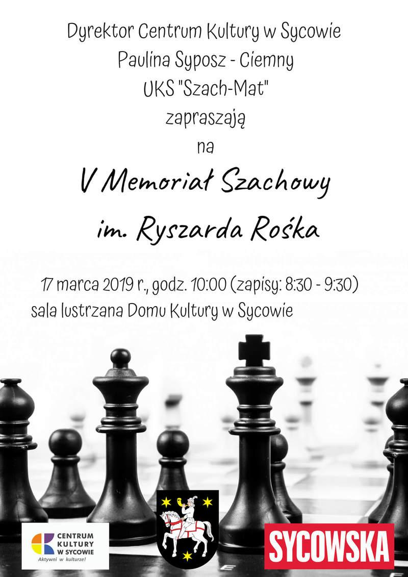 V Memoriał Szachowy im. Ryszarda Rośka