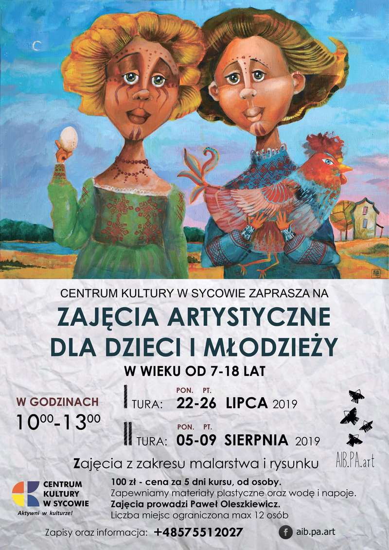 Letnie Warsztaty Artystyczne z Państwem Oleszkiewicz