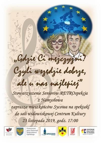 Spektakl Stowarzyszenia Seniorów RETROspekcja z Namysłowa