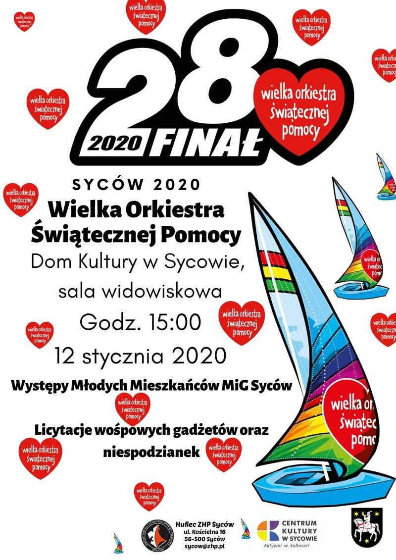 WOŚP 2020 - harmonogram występów