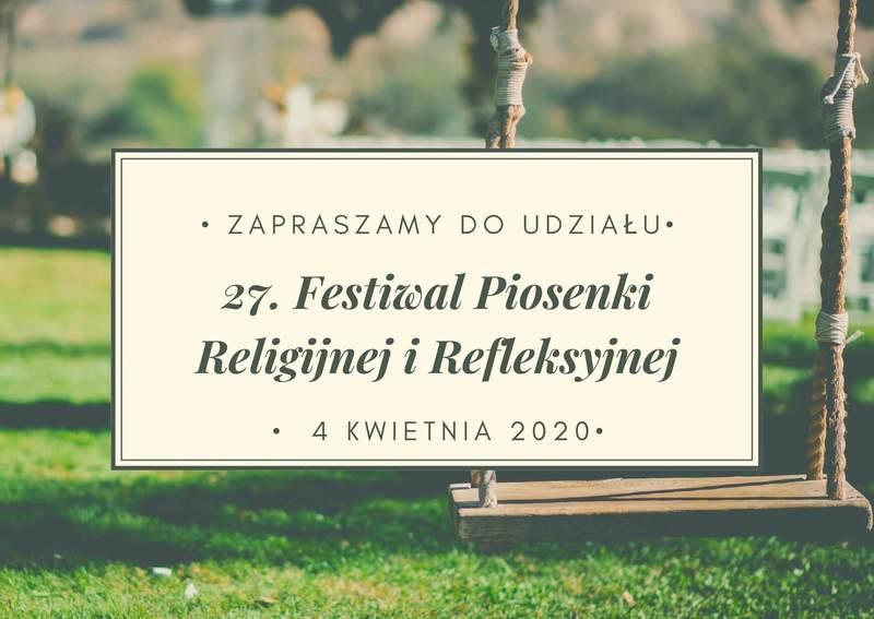 Festiwal Piosenki Religijnej i Refleksyjnej