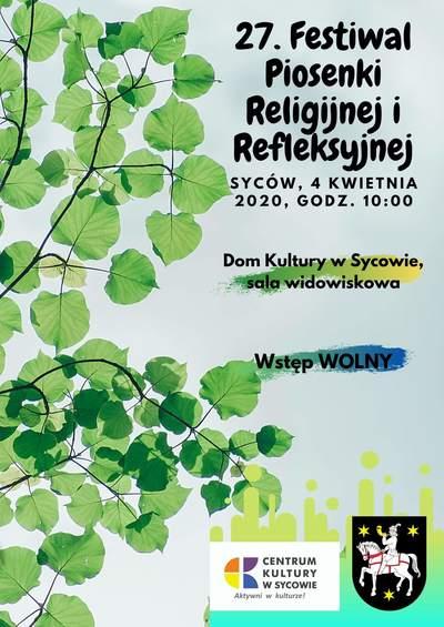 27. Festiwal Piosenki Religijnej i Refleksyjnej już w kwietniu.