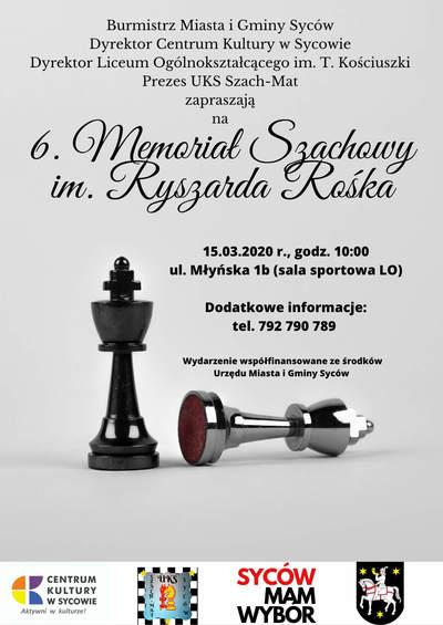 6. Memoriał Szachowy im. Ryszarda Rośka