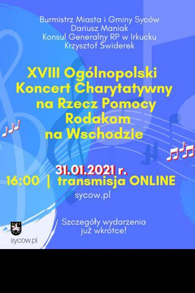 XVIII Ogólnopolski Koncert Charytatywny na Rzecz Pomocy Rodakom na Wschodzie